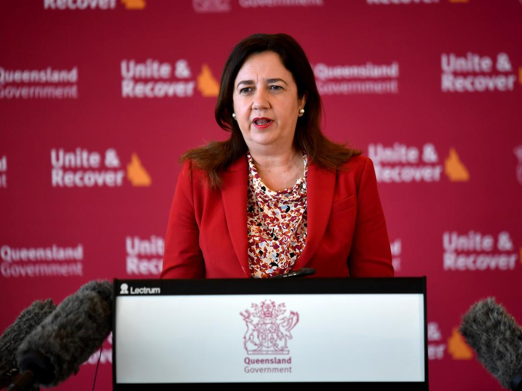 Premier Annastacia Palaszczuk says restrictions will be lifted early. Picture: NCA NewsWire / John Gass