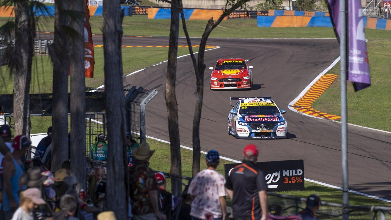 Whincup holds out McLaughlin to take the win.