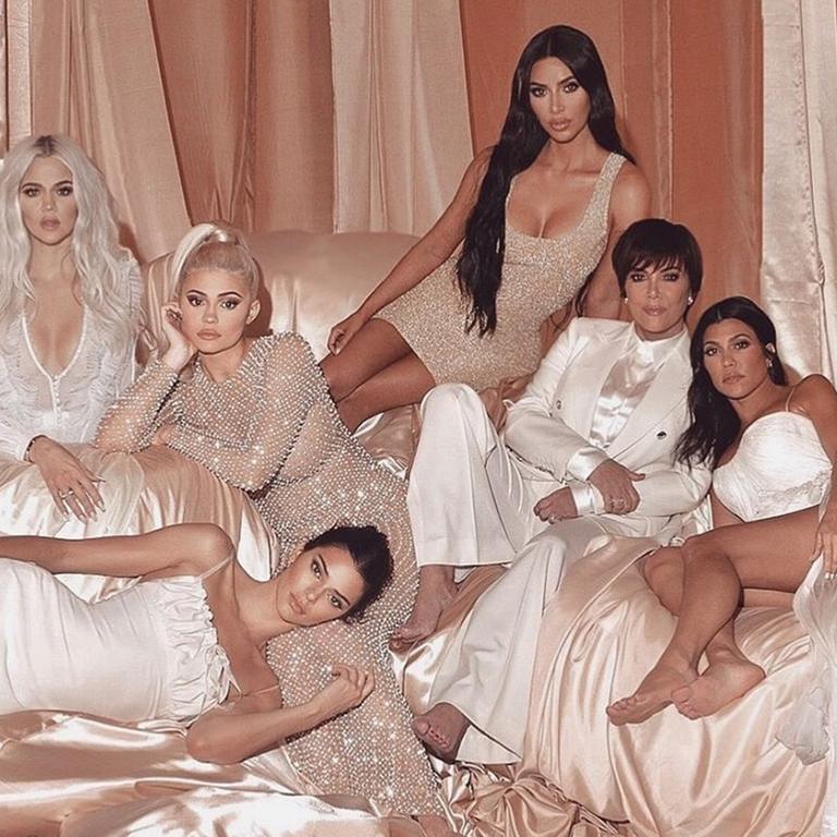 Kendall Jenner pranks her family in new video. Picture: Kim Kardashian/Instagram