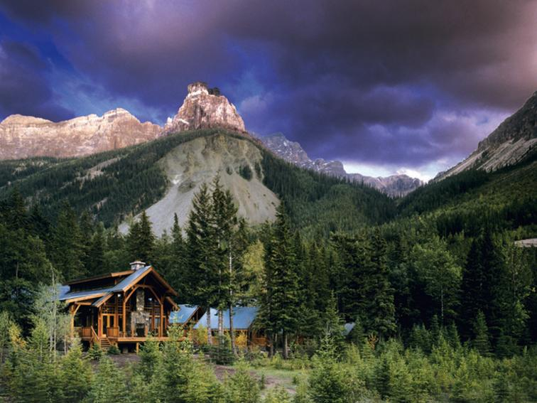 Cathedral Mountain Lodge in Canada.