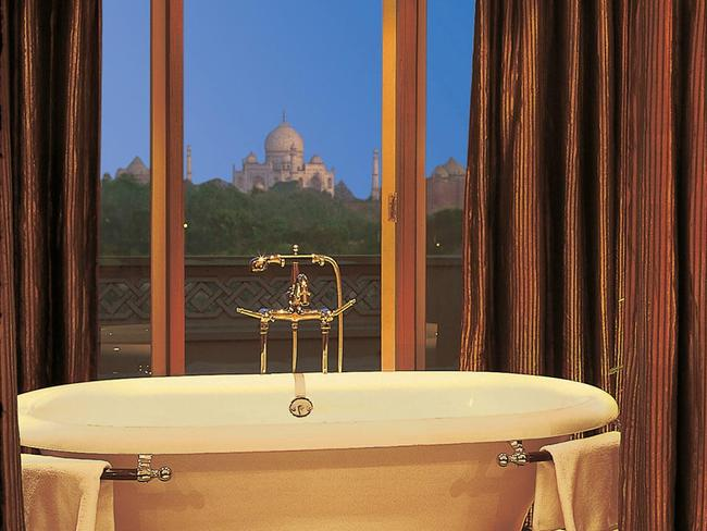 Just 600 m from the Taj Mahal, The Oberoi Amarvilas Agra boasts luxurious rooms, a relaxing spa, landscaped gardens, an outdoor pool, four dining options and, not to mention, unparalleled views of the Taj Mahal.