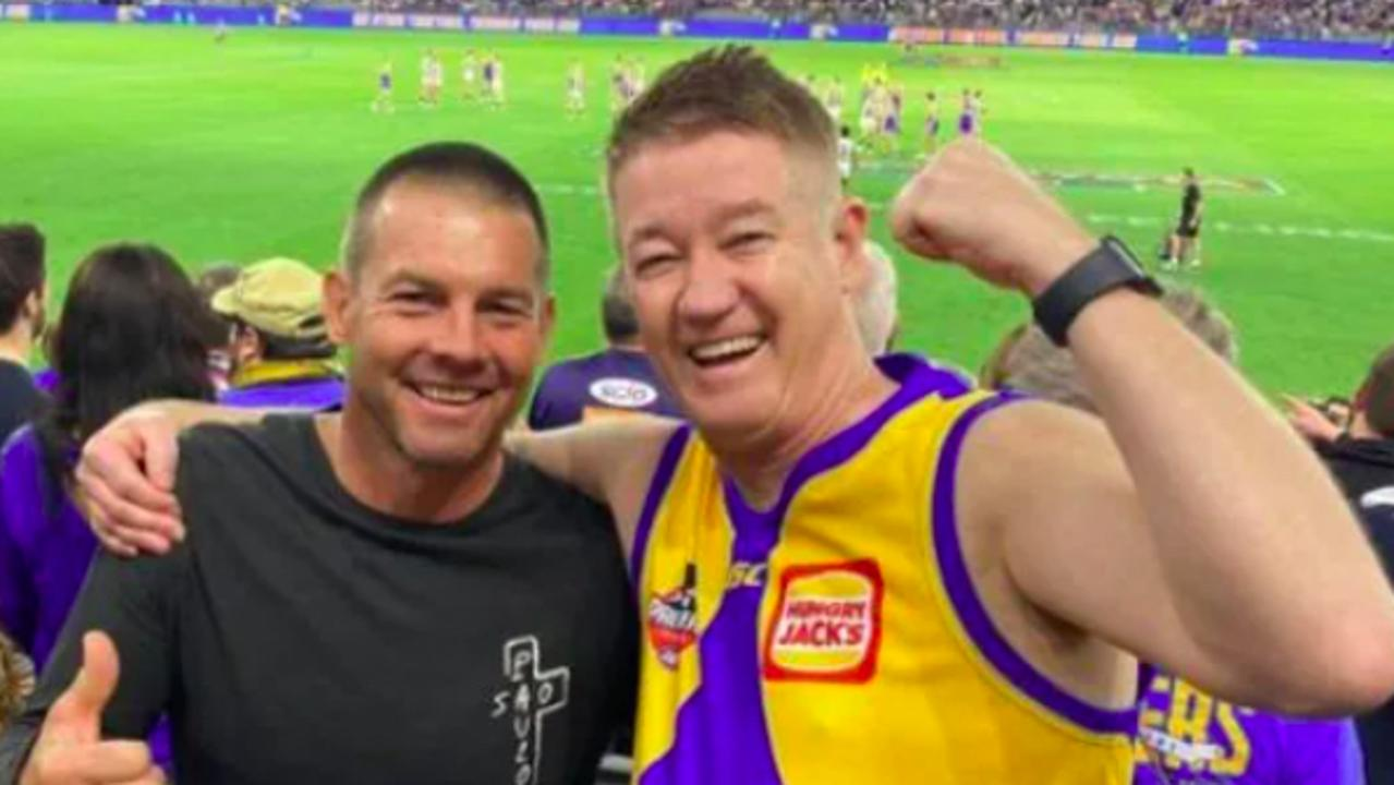 Ben Cousins at the West Coast vs Collingwood game at Optus Stadium. Credit: Louis Clune, West Coast Eagles Supporters Page.Source:Facebook
