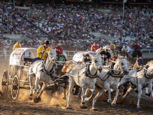 GIDDY UP FOR CALGARY STAMPEDE, ALBERTA Every July this two-week entertainment extravaganza takes over Calgary (aka Cowtown), attracting more than a million visitors who flock to see the fierce competition between bull-riders, barrel races and chuck wagon drivers. Beyond the livestock, expect spectacular stage shows, mind-bending acrobatics, outstanding fireworks, rides, parties and a smorgasbord of food trucks serving the best of the Midwest. Picture: Chris Bolin/ Calgary Stampede