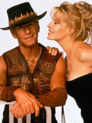 Paul Hogan and Linda Kozlowski. Picture: Supplied