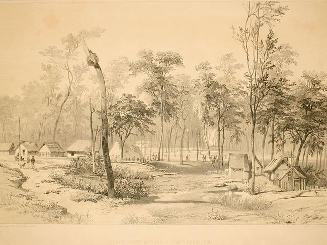Port Essington in 1846. Picture: Ernest Goupil, Wikicommons
