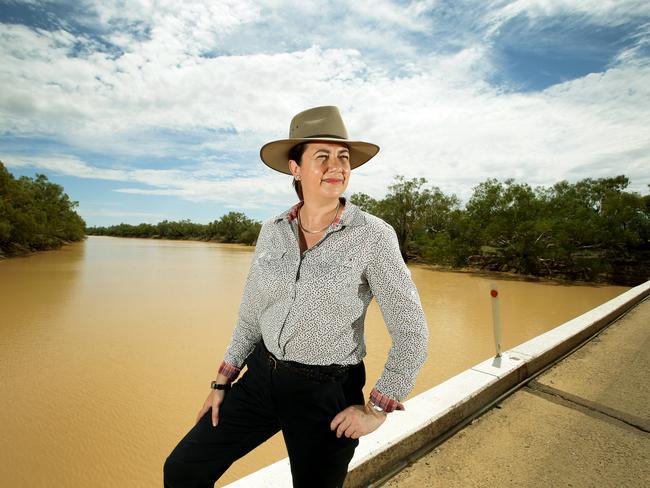 Premier Annastacia Palaszczuk on a visit to western Queensland. Picture: Mark Calleja