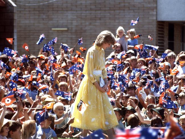 Princess Diana visiting a school in Alice Springs in 1983. Picture: Jayne Fincher/Princess Diana Archive/Getty Images.