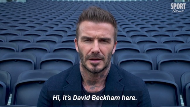 David Beckham on supporting the Football For Fires charity match