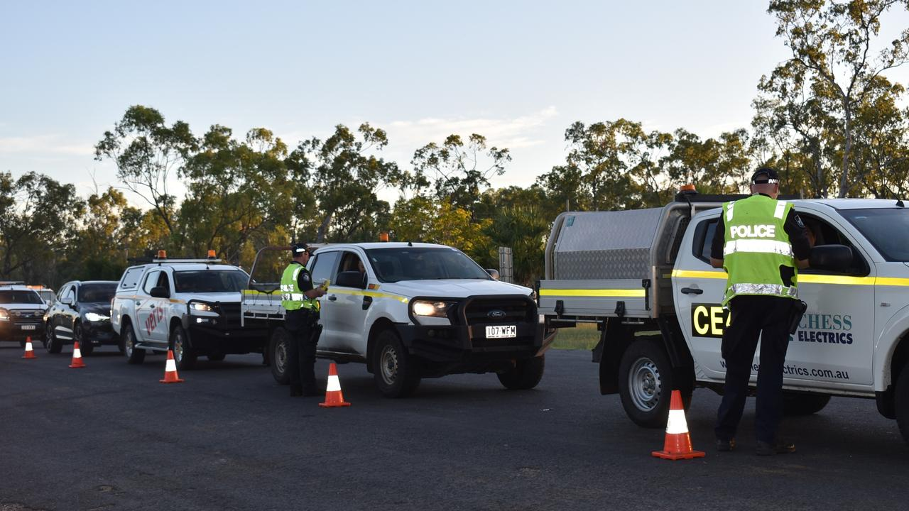 Operation by Nebo, Glendan, Middlemount, and Moranbah stations with Road Policing Command to target drink and drug driving and driver fatigue. Picture: Lillian Watkins