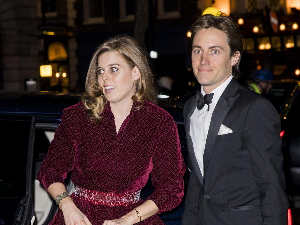 Princess Beatrice and Edoardo Mapelli Mozzi had originally planned to marry in May but the coronavirus and her father's woes led to its cancellation. Picture: Getty Images