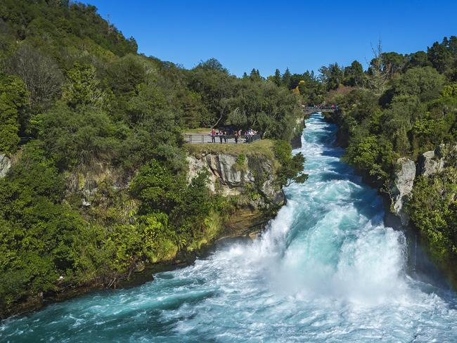 SEE HUKA FALLS, GREAT LAKE TAUPO Stroll along the riverbanks of the Waikato River and you are in for a treat at the end. The powerful Huka Falls is reward for any hiker who undertakes this easy six-kilometre hike. Along the way you'll pass a natural hot spring, Otumuheke Stream, and open farmland, and spot incredible flora and fauna too. Picture: Graeme Murray