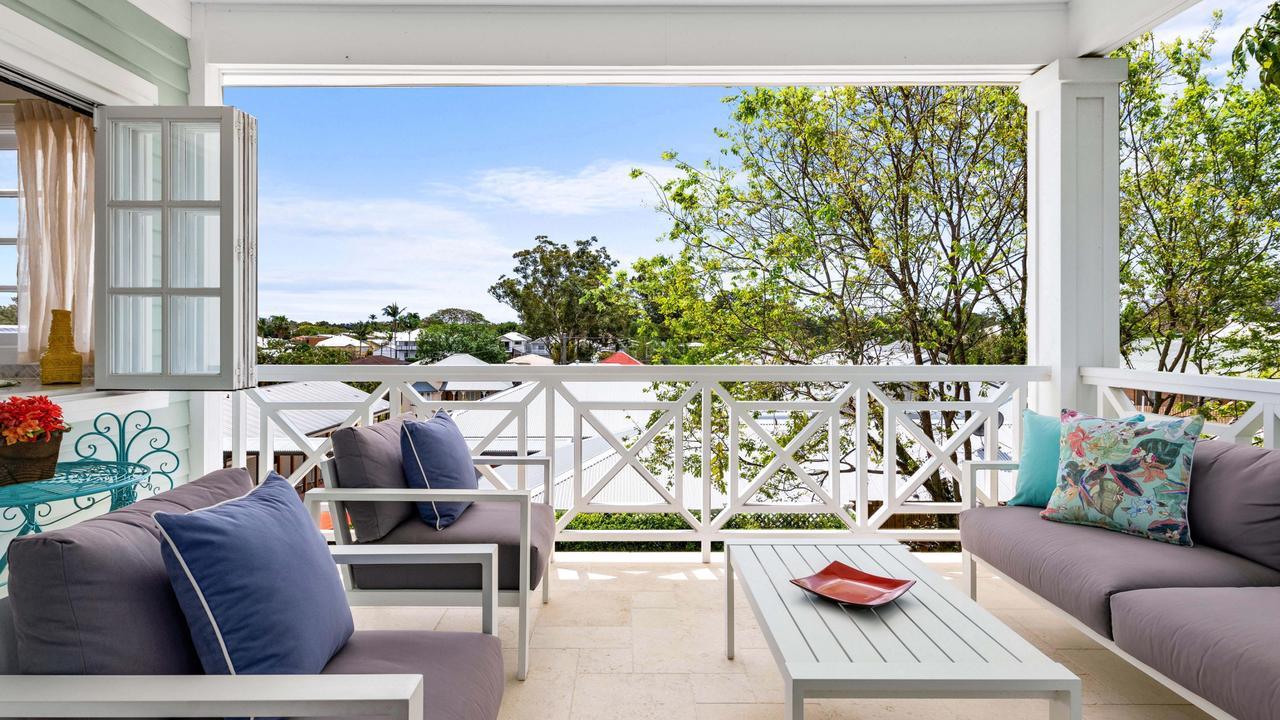 The home has Palm Beach-inspired decor.