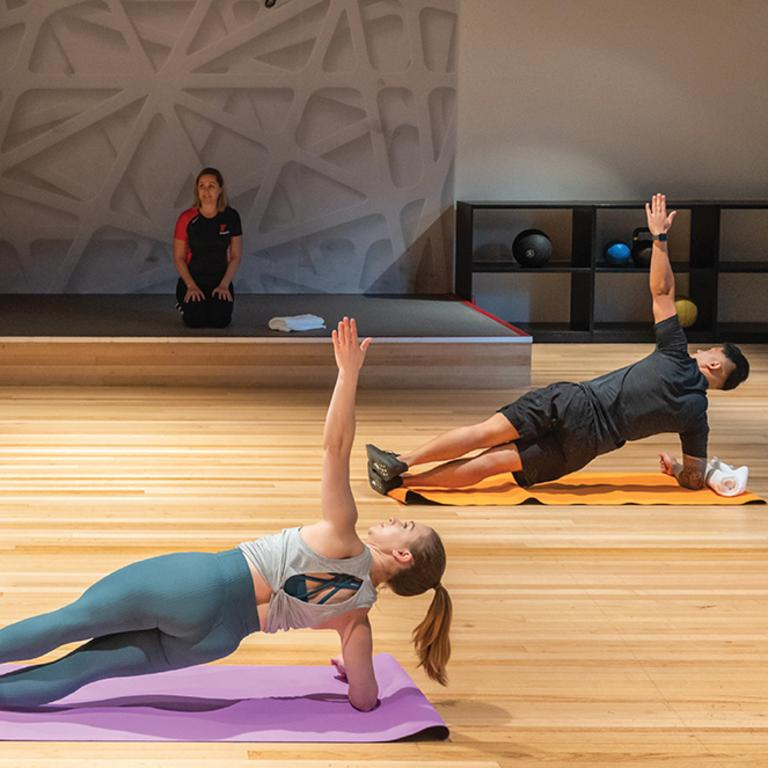 Workouts will now look like this, with lots of space around you. Picture: Fitness First