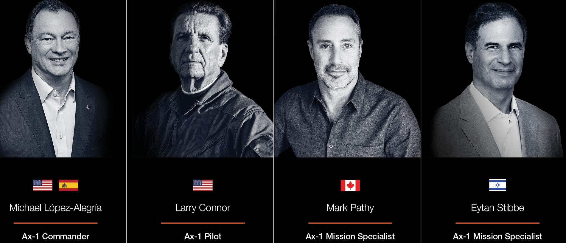 The crew for Axiom's Ax-1 mission has been announced.