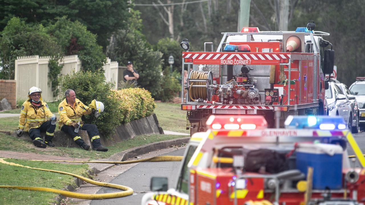 Multiple fire crews were called to the area. Picture: NCA NewsWire / James Gourley