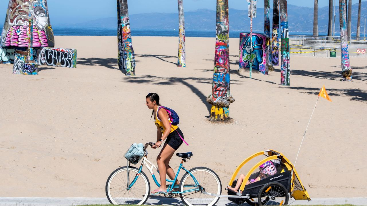 Venice Beach is one of the most famous and popular beachfronts in LA. Picture: Valerie Macon / AFP