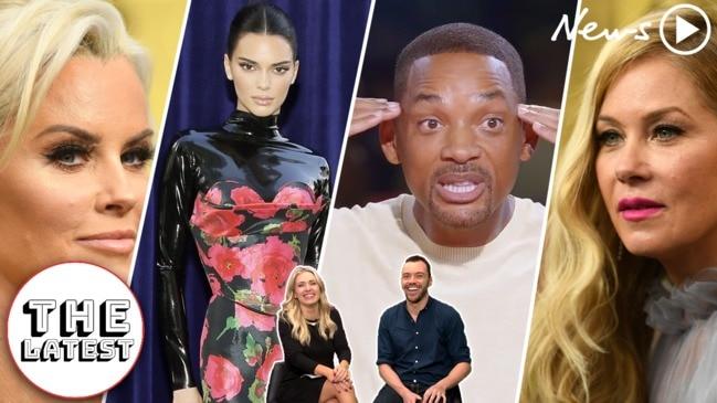 The Latest: Kim, Kendall & Christina Applegate's TRAINWRECK Emmys!