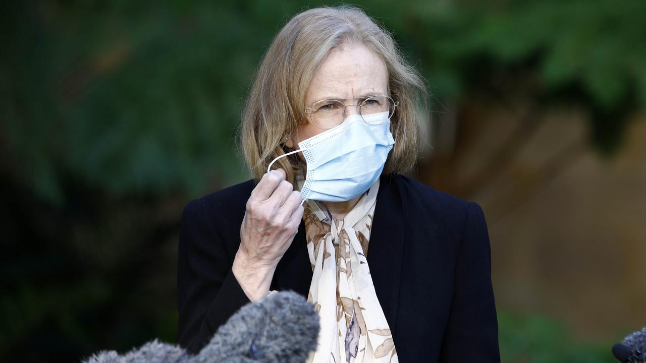 Queensland's Chief Health Officer Dr Jeannette Young has urged Brisbane residents in the 11 local government areas to remain at home till Sunday. Picture: NCA NewsWire/Tertius Pickard
