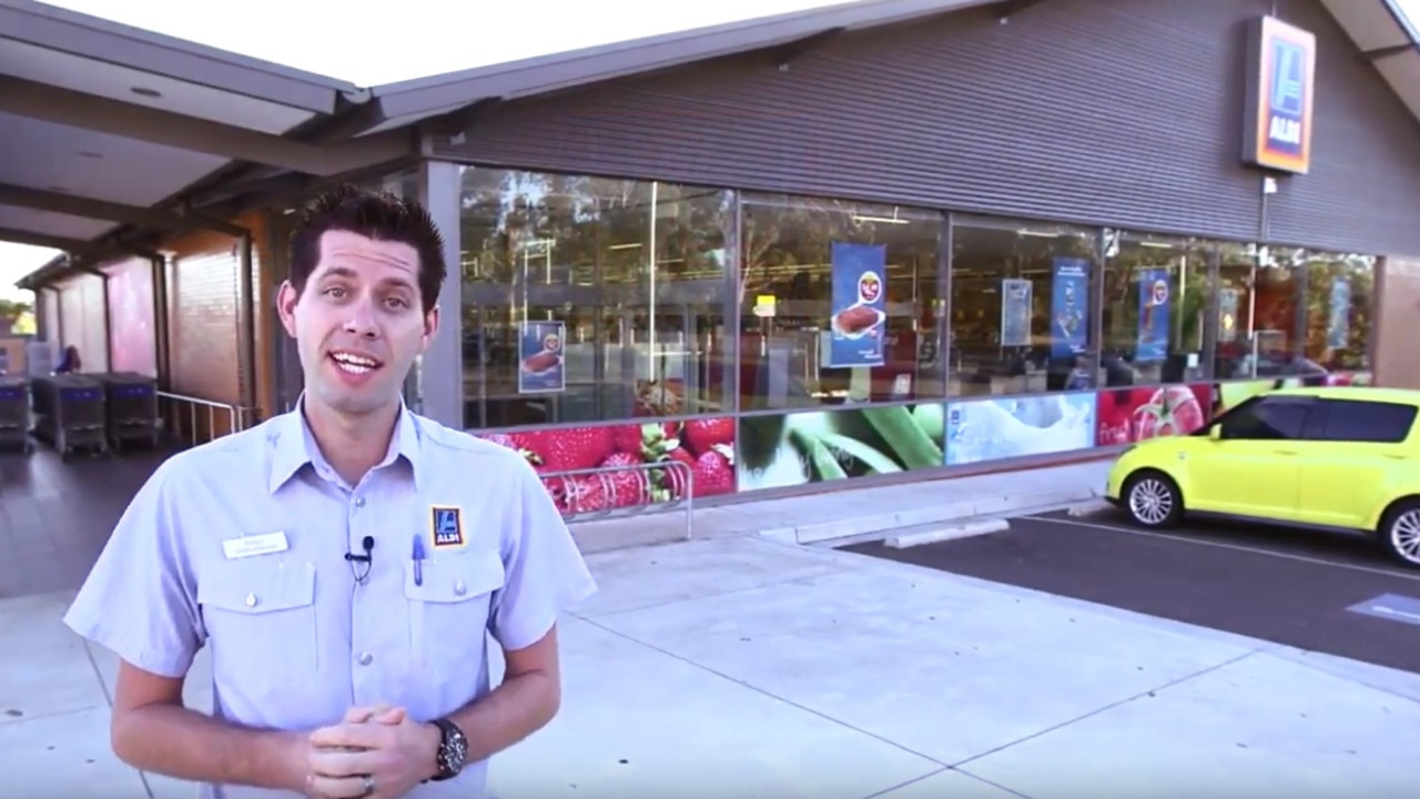 The Aldi store tour was produced to help new employees.