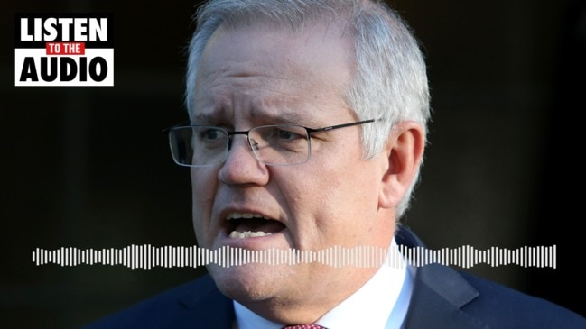 """Scott Morrison hits back over vaccine rollout lockdown blame: """"I don't accept that"""""""