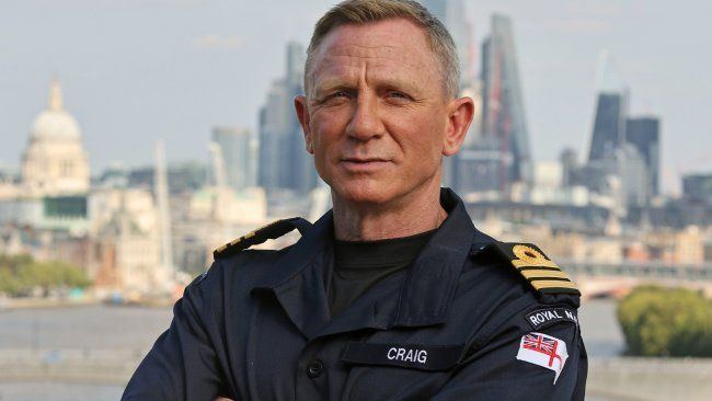 Daniel Craig has been named as an honorary commander in the British Navy to match the role of his on screen counterpart, James Bond. Picture: Twitter/James Bond
