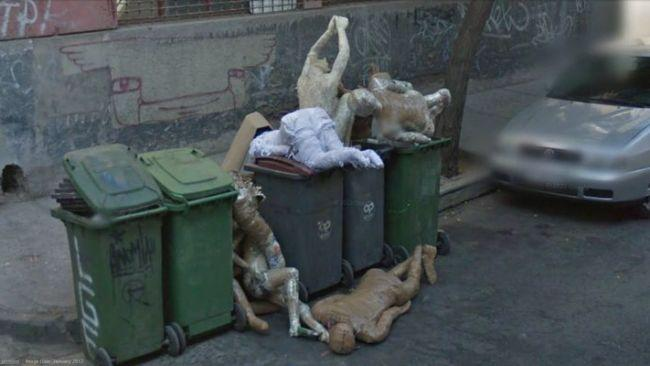 Spotting creepy things around the globe in Google street view pics has been a hobby for armchair travellers ever since it was launched in 2007. Exhibit A: this image of a dumpster full of discarded mannequins that was captured in Chile.