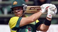 (Files) In this file picture taken on September 6, 2014, Australia's batsman Aaron Finch bats during the final of the one day international tri-series between Australia and South Africa at the Harare Sports Club in Zimbabwe. Yorkshire have signed Australian batsmen Aaron Finch and Glenn Maxwell as their overseas players for the 2015 season, the reigning English county champions announced on Wednesday. AFP PHOTO / JEKESAI NJIKIZANA
