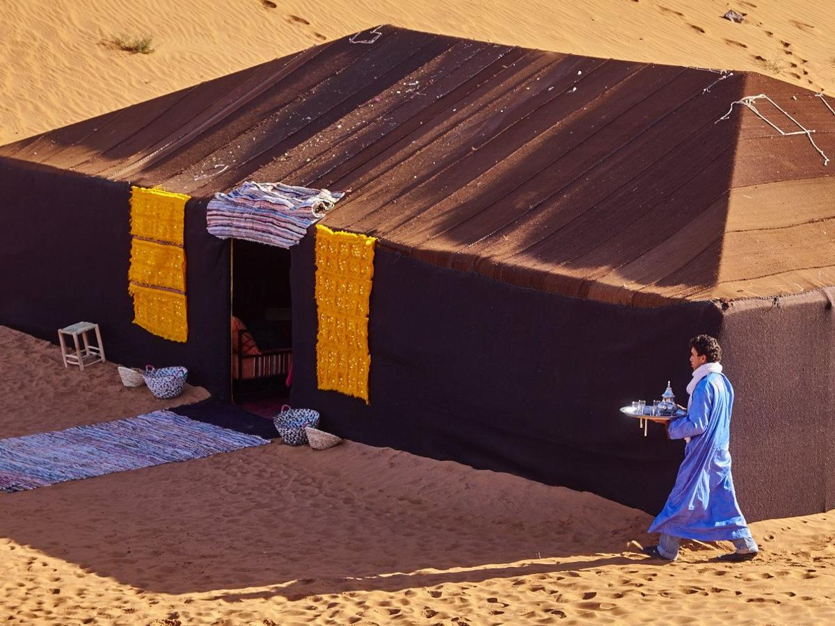 Disconnect from the outside world at Azawad Luxury Desert Camp.