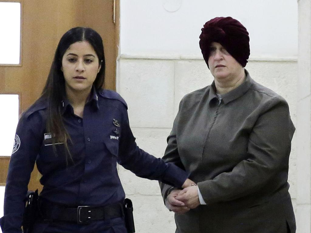 Australian Malka Leifer is brought to a courtroom in Jerusalem. Picture: Mahmoud Illean/AP Photo