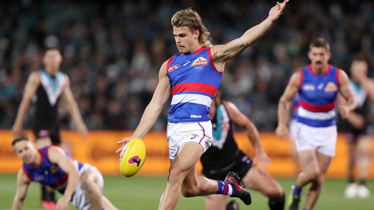 Bailey Smith has starred for the Western Bulldogs in the AFL finals. Picture: Sarah Reed / AFL Photos via Getty Images