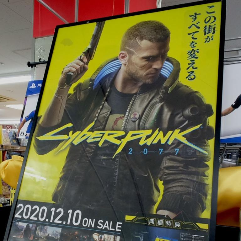 The hackers claimed they've stolen the source code for Cyberpunk 2077. Picture: Kazuhiro Nogi / AFP
