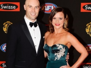 Felicity and Tom at the Brownlow Medal. Photo: Instagram @felicityharley