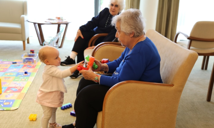 'I joined a playgroup in an aged care home and it's been life-changing'