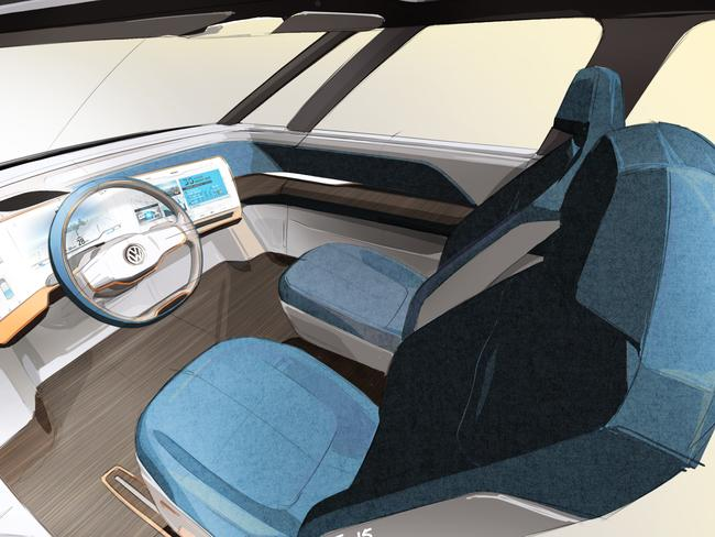 Smart home hub ... the BUDD-e electric concept car from VW.