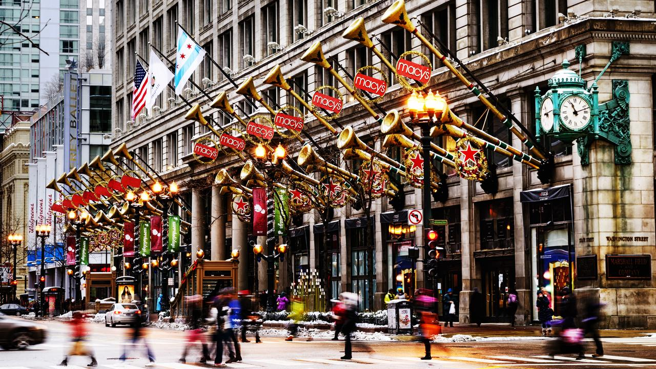 Christmas decorations at Macy's in Chicago.