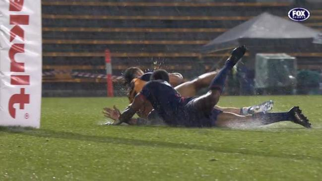 Rebels slip 'n' sliding try