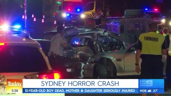 Man charged after horror crash on Sydney's M2 kills 12-year-old boy (9 News)