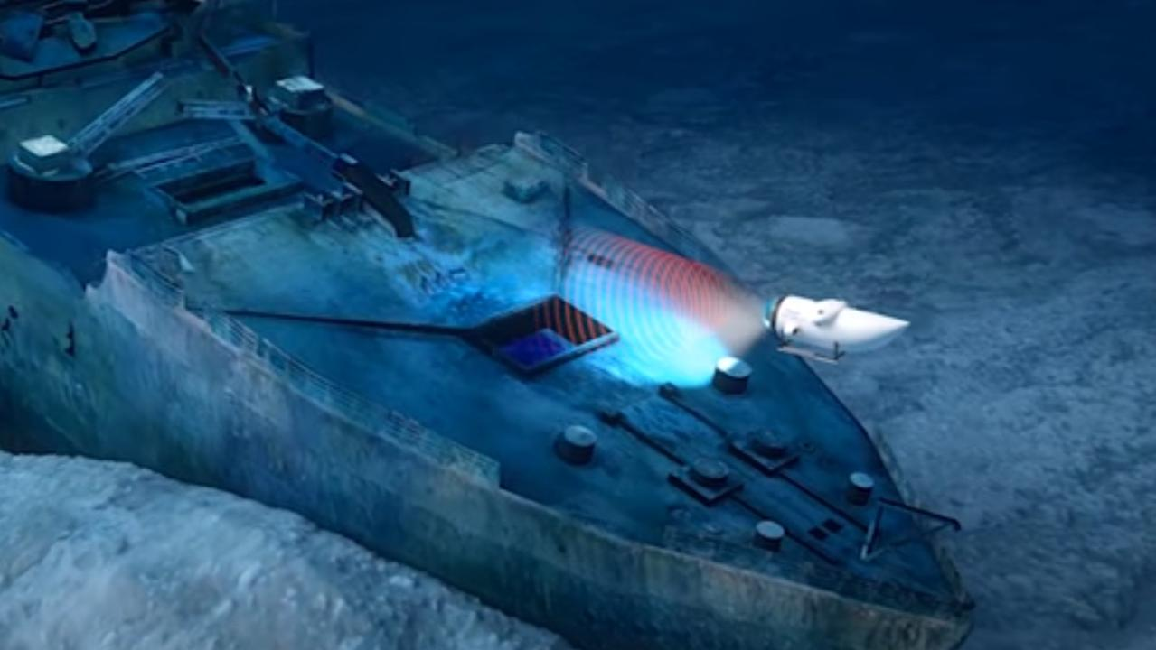 OceanGate Expeditions are offering submarine visits of the Titanic wreck. Picture: OceanGate