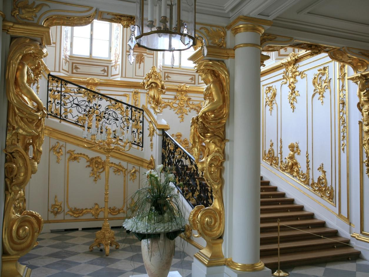The State staircase in Catherine Palace (Tsarskoye Selo)