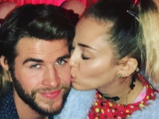 Liam Hemsworth and Miley Cyrus. Photo: Instagram