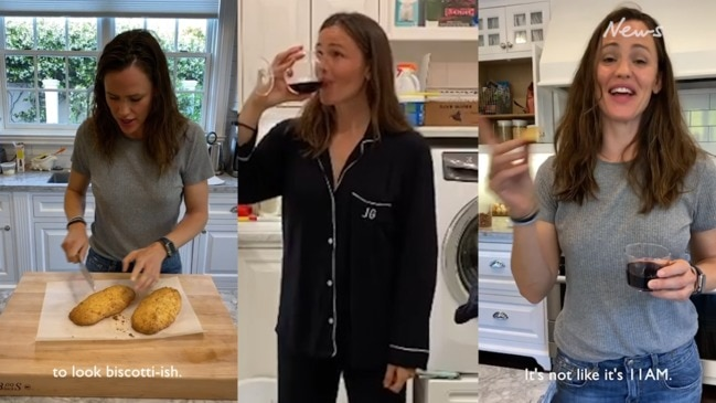 Jennifer Garner in isolation: Laundry, red wine and biscotti