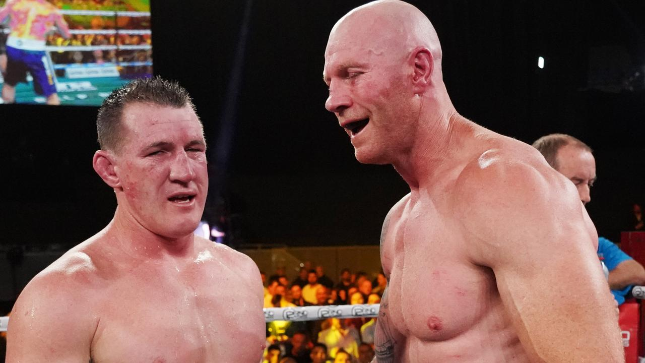Paul Gallen and Barry Hall couldn't organise a rematch. Picture: AAP Image/Michael Dodge