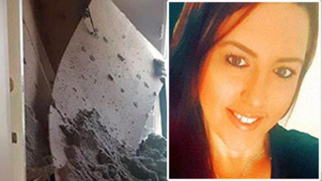 Cranebrook mother-of-two Melissa Todd is facing eviction after her ceiling collapsed.