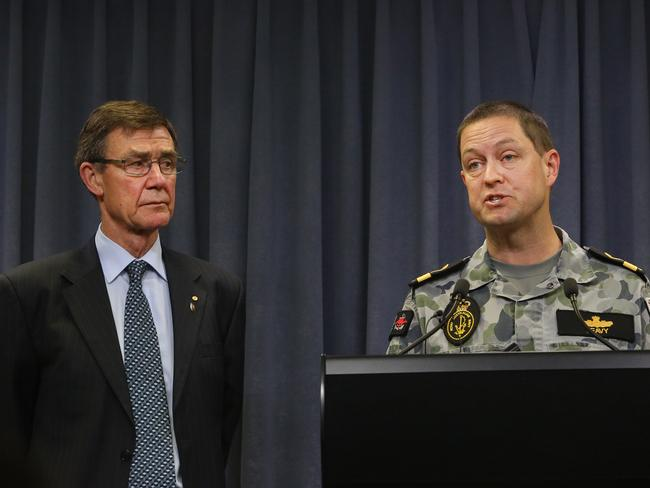 Retired Air Chief Marshall Angus Houston and Commodore Peter Leavy. Picture: News Corp Australia