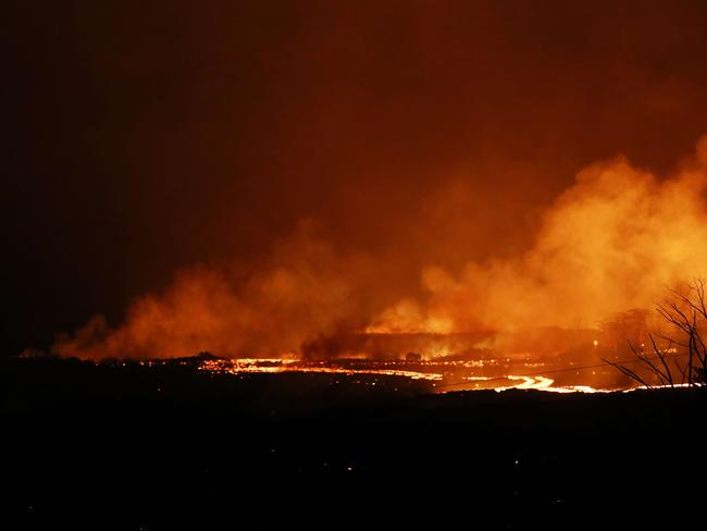 Lava from a Kilauea volcano fissure flows toward the ocean on Hawaii's Big Island. Picture: Getty