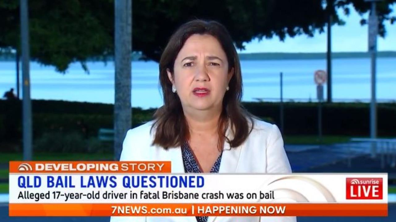 Queensland Premier Annastacia Palaszczuk. Picture: Sunrise