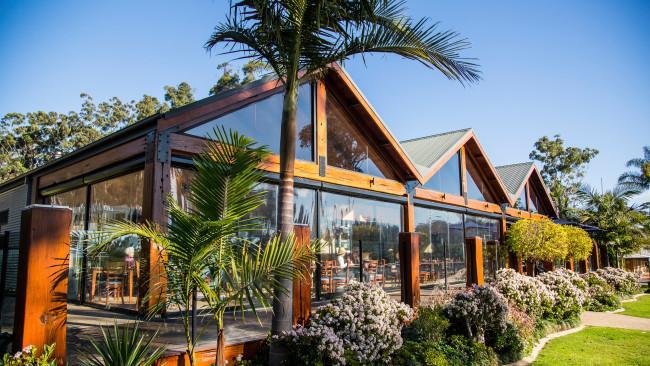 Scenic grounds of Wheeler's Seafood Restaurant, Pambula