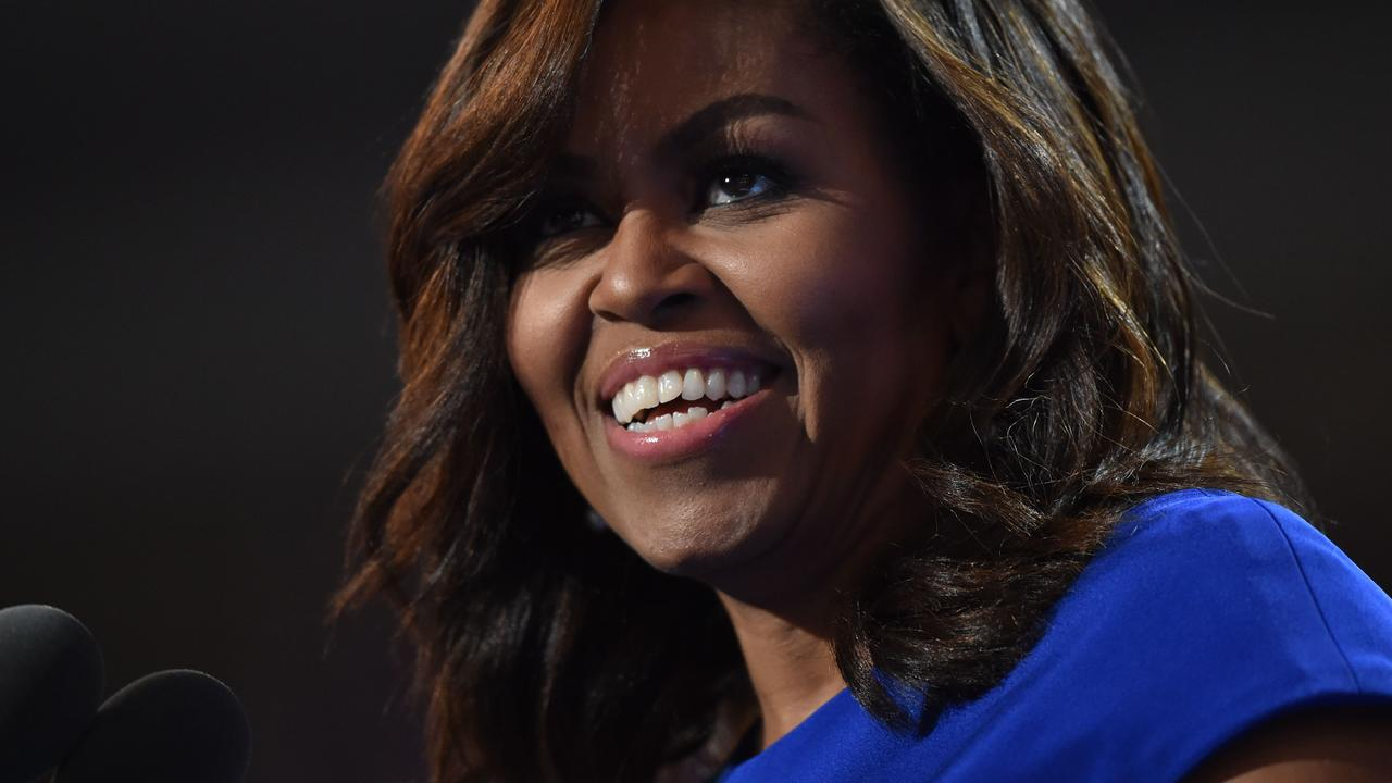 Michelle Obama at the Democratic National Convention in 2016. Picture: Nicholas Kamm/AFP
