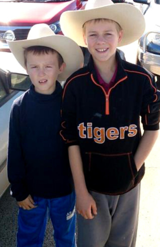 Noel, 9, and Zach Lister, 13, who were killed in Wednesday night's crash near Gatton.