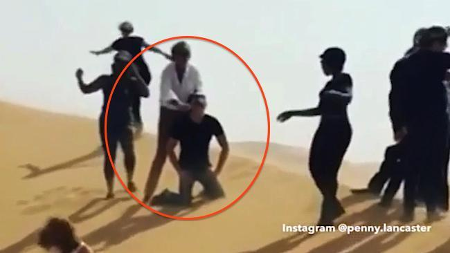 Rod Stewart 're-enacts' Jihadi John-style ISIS beheading